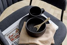 Neri-Bowl,-Black,-Stoneware2-edited Nespresso, Coffee Maker, Kitchen Appliances, Black, Coffee Maker Machine, Diy Kitchen Appliances, Coffee Percolator, Home Appliances, Black People