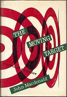 The Moving Target, Alfred A Knopf, 1949 – jacket design by Bill English Vintage Book Covers, Vintage Books, Book Cover Design, Book Design, Olle Eksell, Poster Design, Graphic Design, Crime Fiction, Typography