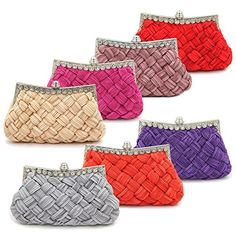Elegant Braided Pleated Glitter Rhinestone Clutch Evening Bag – Diff Colors  Evening Bags Product Features     Elegant glittery satin fabric clutch evening bag with sparkling rhinestone frame   Fabric lining. Crystal ball clasp top closure. Interior wall pocket.   2 sizes of removable hideaway chain strap: 8″ drop and 23″ drop   9″ (L) x 5″ (H) x ..  http://www.bestwomenbag.com/elegant-braided-pleated-glitter-rhinestone-clutch-evening-bag-diff-colors/