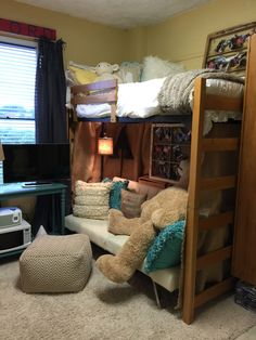 My Desk And Built Ins In Ole Miss Crosby Corner Dorm Room