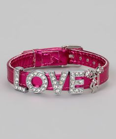 Take a look at this Pink Metallic 'Love' Bracelet by Sugar & Vine on #zulily today!