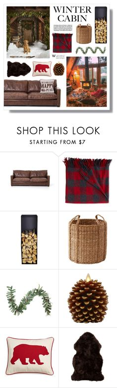 """Into the Woods: Cozy Cabin"" by lgb321 ❤ liked on Polyvore featuring interior, interiors, interior design, home, home decor, interior decorating, L.L.Bean, Northlight Homestore, Luminara and Eddie Bauer"