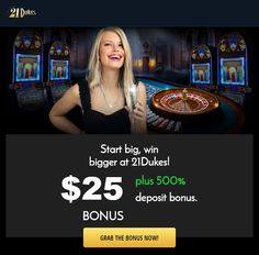 21 Dukes 500% Deposit Bonus Best Casino Games, Casino Bonus, Online Casino, Online Games, Duke, 21st, Coding, Peacocks, Programming