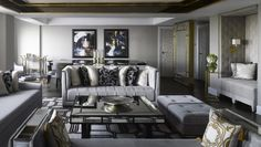 """Royal Suite in London Inspired by The Style of Queen Elizabeth II  - for the""""Settee"""" & tone on tone"""