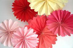 Valentine Decorations - Party decorations - 3 pomwheels ... pick your colors.. $6.00, via Etsy.