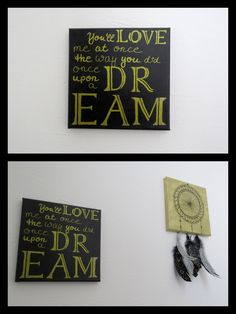 DIY Sleeping Beauty Quote Canvas Painting - Once Upon a Dream