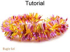 Beaded Bugle Lei Fringe Bracelet Beading Pattern Tutorial | Simple Bead Patterns