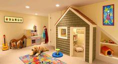 Playroom..I like the playhouse closet