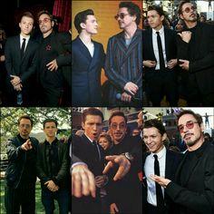 Tom Holland and Robert Downey Jr