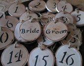 Wedding Numbers, Table Numbers, Wood Numbers, Wedding Rustic, Barn Wedding, Barn Wedding Decor. $28.00, via Etsy.