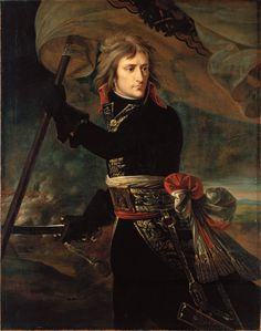 Napoleon Bonaparte on the bridge of Arcole by Jacques Louis David French History, Art History, Jacque Louis David, Napoleon Painting, European Paintings, Pet Costumes, Classical Art, Kaiser, Western Art
