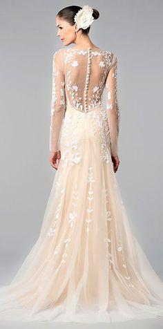 vestido novia rosa palo