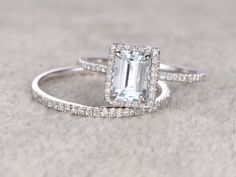 2 Aquamarine Ring Engagement ring White gold,topaz wedding band,14k,5x7mm Emerald Cut,Blue Gemstone Promise Ring,Claw Prongs, Engagement Rings, US $458.00, http://diamond.fashiongarments.biz/products/2-aquamarine-ring-engagement-ring-white-goldtopaz-wedding-band14k5x7mm-emerald-cutblue-gemstone-promise-ringclaw-prongs/, US $458.00, US $416.78 #Engagementring http://diamond.fashiongarments.biz/ #weddingband #weddingjewelry #weddingring #diamondengagementring #925SterlingSilver #WhiteGold