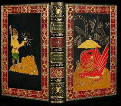 The Hobbit finely bound by Sangorski and Sutcliffe Zaehnsdorf in full black morocco, most famous for very lavish bindings.