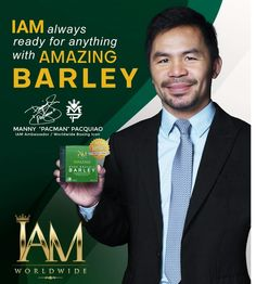 """Manny """"pacman"""" Pacquiao recommended Amazing Pure Organic Barley. Boost your immune system now and fight corona virus and other diseases. Message us for orders. We ship nationwide and worldwide. Viber/Whatsapp +639982477589 Manny Pacman, Manny Pacquiao, Immune System, Organic, Ship, Pure Products, Amazing, Corona, Ships"""