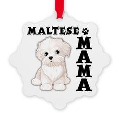 MALTESE MAMA Snowflake Ornament