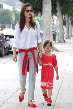 Alessandra Ambrosio in Joe's Natural Fit jeans