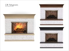 Fireplace of a set 'Lilit livingroom' Found in TSR Category 'Sims 4 Fireplaces'