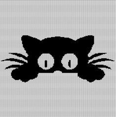 Little cat crochet afghan pattern graph Crochet Afghans, Tapestry Crochet, Afghan Crochet Patterns, Cross Stitching, Cross Stitch Embroidery, Cross Stitch Patterns, Crochet Cat Pattern, Crochet Chart, Chat Crochet