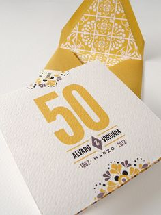 Mexican Tile-inspired Wedding Invitations