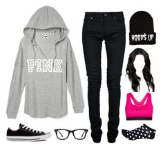 """""""Untitled #2118"""" by twpickle96 ❤ liked on Polyvore featuring Hood$ Up, Yves Saint Laurent, Converse, River Island, NIKE, Ray-Ban, women's clothing, women's fashion, women and female"""