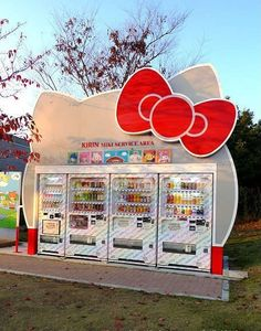 Hello Kitty vending machines. WHERE IS THIS GLORIOUSNESS.