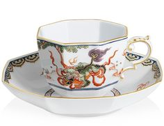 Cup and saucer, Fo-Dogs in Chinese landscape, Limited Masterpieces, V 0,15 l