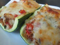 White Wine Vegetables Stuffed Zucchini Recipe