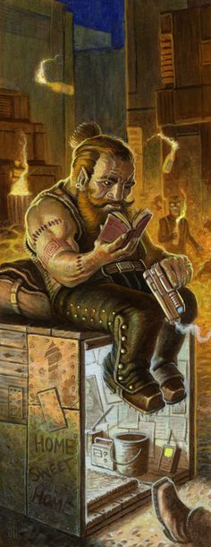m Gnome Rogue Thief Wizard Alternate Reality Home Sweet Home interior art for Shadowrun from Catalyst Game Labs art by Jeremy McHugh Character Concept, Character Art, Character Design, Space Fantasy, Fantasy Art, Shadowrun Game, Vanellope Von, Character Portraits, Samurai