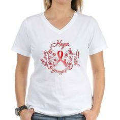 Aplastic Anemia Hope Faith shirts featuring a stunning butterfly ribbon design by gifts4awareness.com #aplasticanemia #aplasticanemiaawareness #aplasticanemiashirts