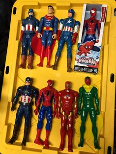 Gently used Avengers actin figures Thanos Hulk, Spiderman, Action Figures, Avengers, Marvel, Gift, Spider Man, The Avengers, Gifts