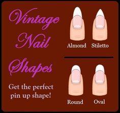 1940s nail - Google Search