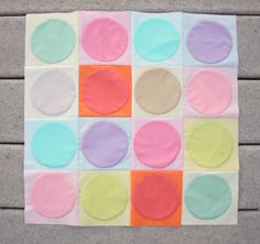 Polka Dot Free Applique Designs - Learn how to make a baby blanket and how to applique dots!