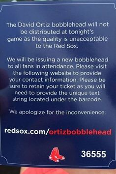 162c960e23ea Red Sox scrap  insensitive  Ortiz bobblehead