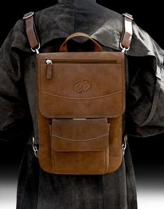 MacCase Premium Leather Flight Jacket for MacBook shown in Vintage