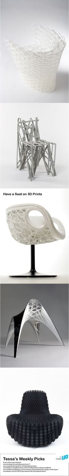 Make it LEO Tessa's Weekly Pick - have a seat on high quality 3D Printed Chair designs