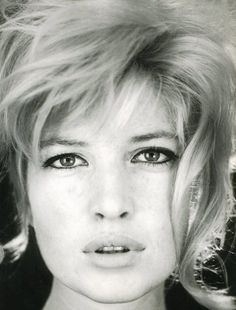 Monica Vitti--i really like her bangs and how her hair poufs on top.