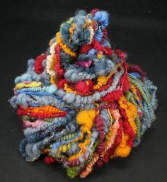 Handspun art yarn: Children's laughing 4.7 oz by WoolShepherdess