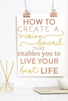 Creating a vision board can truly change the way you live your life. It helps you realize what is most important to you and your goals! See how to get started making your first vision board.