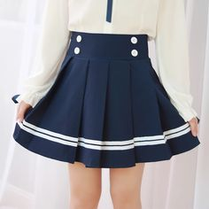 "Japanese students navy skirt   Coupon code ""cutekawaii' for 10% off"