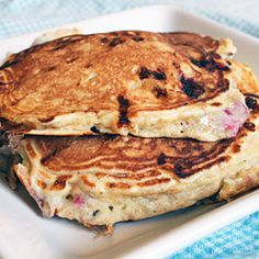 Fluffy Cottage Cheese Pancakes- Yes cottage cheese, but don't be afraid it just makes them amazing!- Z