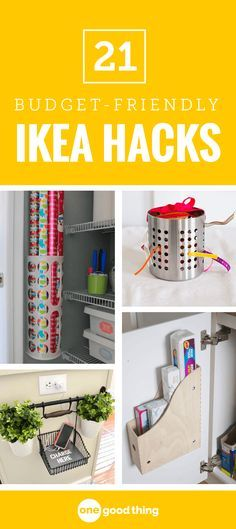 All it takes is a little creativity to turn something basic and affordable into something totally unique. Here are 21 must-see IKEA hacks that you'll want to try today! #ikeahacks #diyhome #moneysavingtips