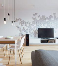 W: - 081 architekci Gray Interior, Interior Design, Architecture Design, Dining Room, House Design, Wood, Lego Duplo, Home Decor, Room Ideas