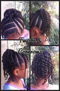 Twists, cornrows, and metallic beads.