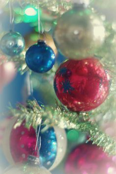 Shiny vintage baubles