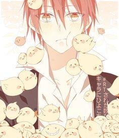 Pixiv Id 9239859, Ansatsu Kyoushitsu, Akabane Karma, Little Bird, Little Yellow Bird | Kyaaahhhh~ he looks like Hibari, but with red hair <3 <3 my karma *^* - DA