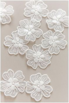 lace flowers Sew on flower flower lace appliqué Paper Flowers Diy, Lace Flowers, Fabric Flowers, Embroidery Art, Machine Embroidery Designs, Embroidery Patterns, Textured Wedding Cakes, Burlap Rosettes, Romantic Flowers