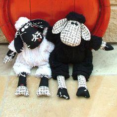 Melly & Me Black Sheep White Sheep.  Too cute!