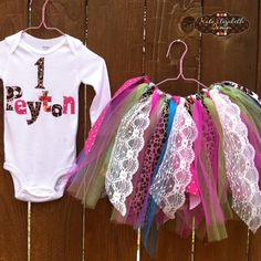 Scrap Fabric Tutu with Custom Shirt by KateElizabethDesign on Etsy Made Clothing, Diy Clothing, Sewing For Kids, Baby Sewing, Little Girl Tutu, Fabric Tutu, Fabric Scraps, Scrap Fabric, Diy Tutu
