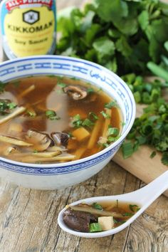 Get ready for Chinese New Year with this super easy Slow Cooker Hot and Sour Soup.  #KikkomanCNY